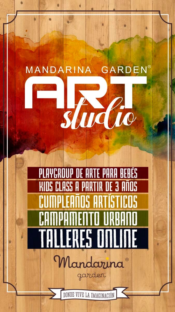 All this is what makes up our Art Studio of Mandarina garden