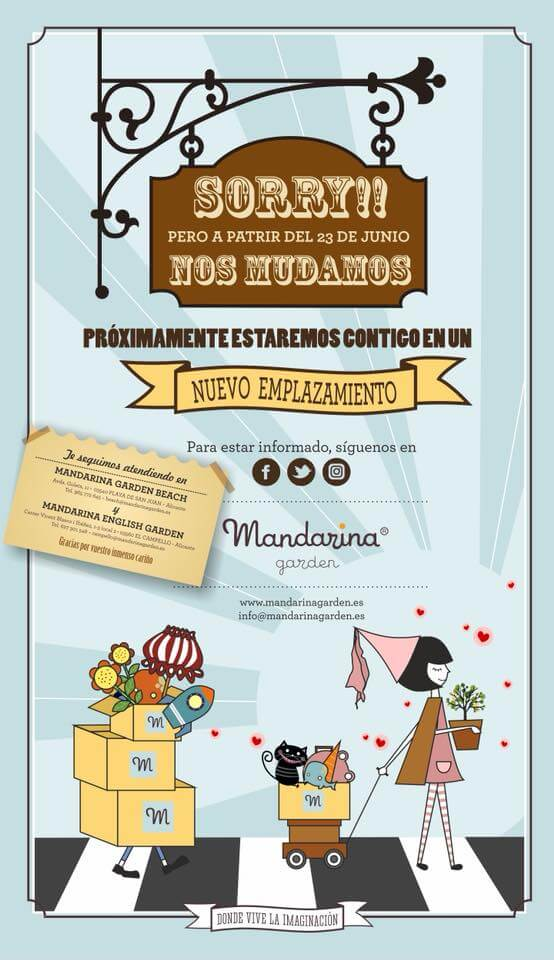 We are moving Mandarina garden