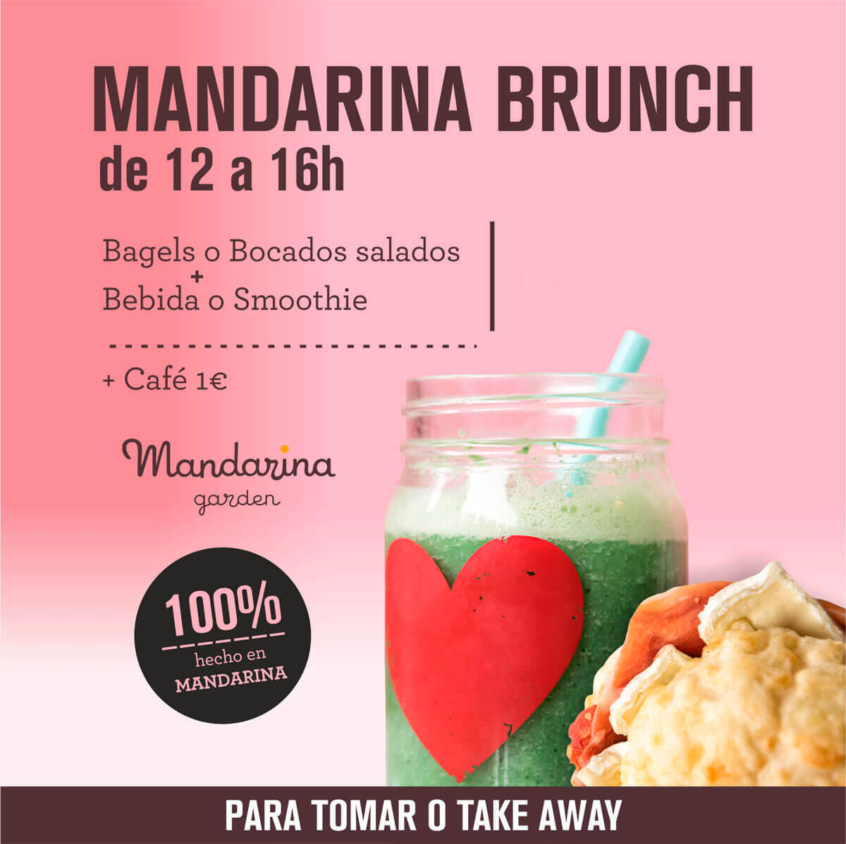 Pack special offer Brunch in Mandarina garden