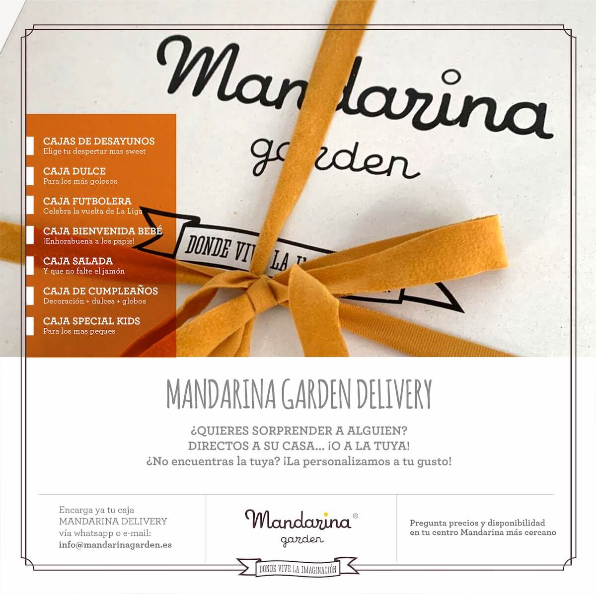 You have many ways to surprise with Mandarina garden surprise boxes